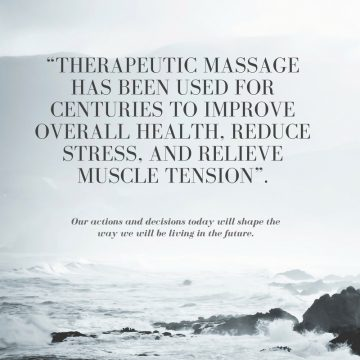 """Therapeutic massage has been used for centuries to improve overall health, reduce stress, and relieve muscle tension""."
